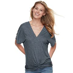 Women's Juicy Couture Dolman Knot-Front Tee