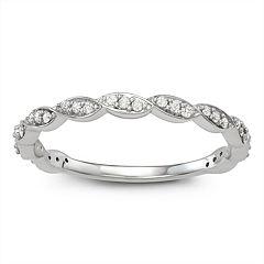 10k Gold 1/6 Carat T.W. Diamond Marquise Ring