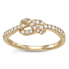 10k Gold 1/4 Carat T.W. Diamond Knot Ring