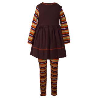 Girls 7-16 Bonnie Jean Pumpkin Patch Dress & Striped Legging Set