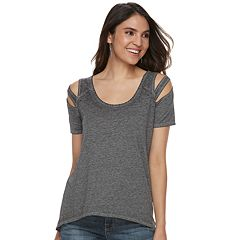 Women's Rock & Republic Cutout Scoopneck Tee