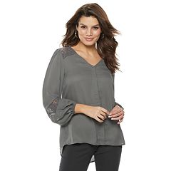 Women's Apt. 9® Lace Yoke Blouse