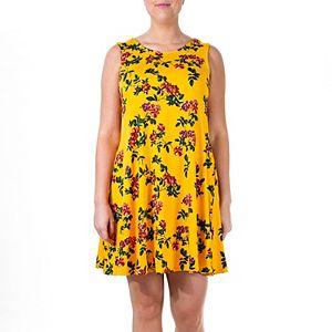 Women's Nina Leonard Floral Swing Dress