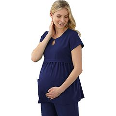 Maternity Jockey Scrubs Empire Waist Top