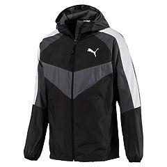 Men's PUMA Colorblock Hooded Windbreaker Jacket