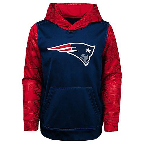 new products f5bf7 9b0fe Boys 4-18 New England Patriots Performance Fleece Hoodie