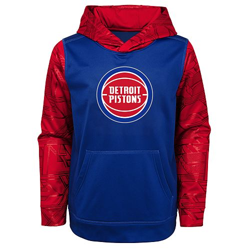 Boys 4-18 Detroit Pistons Performance Hoodie