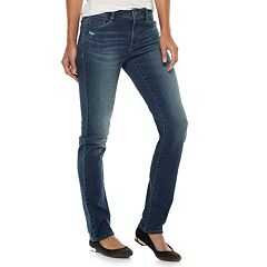 Women's Apt. 9® High Waist Straight-Leg Jeans