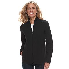 Women's Croft & Barrow® Quilted Knit Jacket