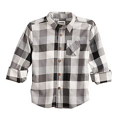 Boys 4-12 SONOMA Goods for Life™ Plaid Button Down Shirt