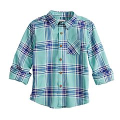 Boys 4-12 SONOMA Goods for Life™ Plaid Button Down Shirt