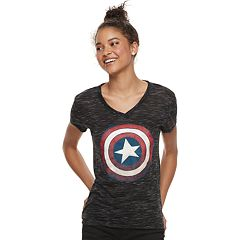 Juniors' Captain America Shield Tee