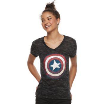 Juniors' Captain America Shield Tee