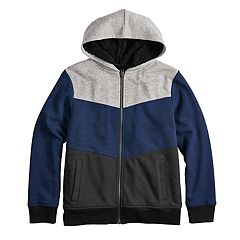 Boys 8-20 Urban Pipeline™ Textured Colorblock Sherpa Hoodie