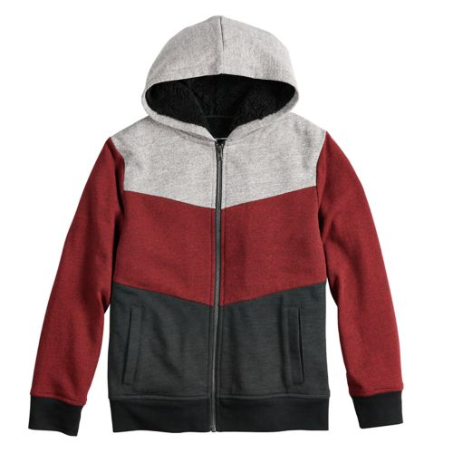Boys 8 20 Urban Pipeline™ Textured Colorblock Sherpa Hoodie by Kohl's