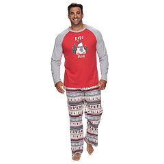 Big & Tall Jammies For Your Families Polar Bear Fairisle Family Pajamas 'Papa Bear' Top & Bottoms Set by Cuddl Duds