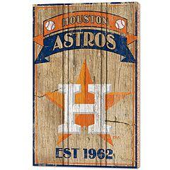 Houston Astros Wood Sign