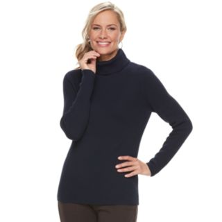 Women's Croft & Barrow® Ribbed Turtleneck Sweater