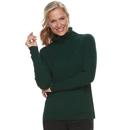 57479942296b8d Women's Croft & Barrow® Ribbed Turtleneck Sweater