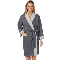 Women's Stan Herman French Terry Kimono Robe