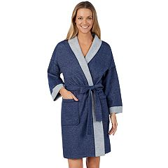 Women's Stan Herman French Terry Kimono Robe