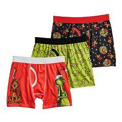 Boys 4-10 Grinch 3-Piece Boxer Briefs
