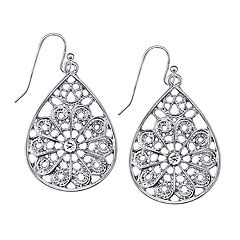1928 Filigree Teardrop Earrings
