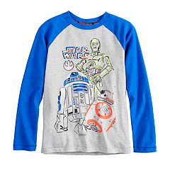 Boys 4-8 Star Wars a Collection for Kohl's C-3P0, R2D2 & BB-8 Raglan Tee