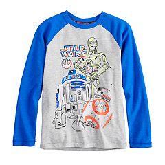 Boys 4-8 Star Wars a Collection for Kohl's C-3P0, R2D2 & BB-8 Raglan Tee