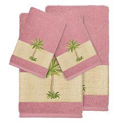 Linum Home Textiles 4-piece Colton Embellished Bath Towel Set