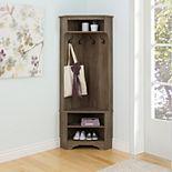 Prepac Entryway Hall Tree Storage Cabinet