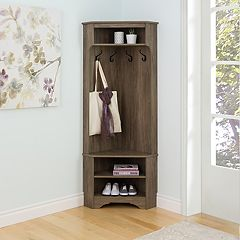 Prepac Entryway Hall Tree Storage Cabinet