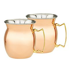 Old Dutch Solid Copper & Stainless Steel Moscow Mule Mug Set