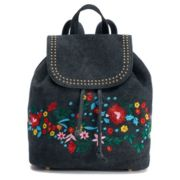 Mellow World Tegan Studded & Floral Denim Backpack