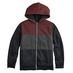 Boys 8-20 Urban Pipeline® Textured Colorblock Sherpa Hoodie