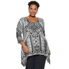 Plus Size World Unity Studded Sharkbite Top