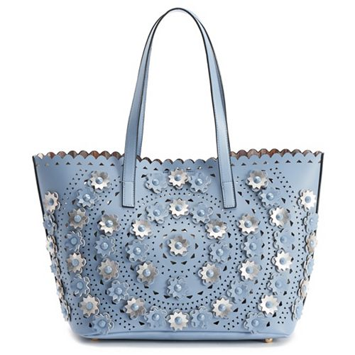 Mellow World Paloma Perforated Floral Tote
