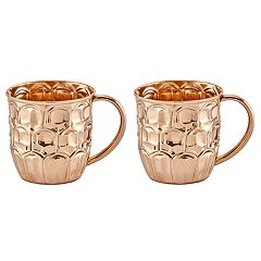Old Dutch Solid Copper Beer Krug Set
