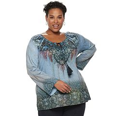 Plus Size World Unity Peasant Top