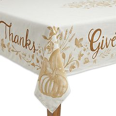 Celebrate Fall Together 'Give Thanks' Tablecloth