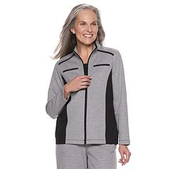 Women's Alfred Dunner Studio Colorblock Zip-Front Jacket