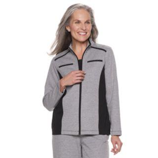 Women's Alfred Dunner Studio Colorblock Zip-Front Jacket