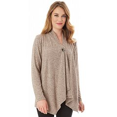 Petite Apt. 9® Button Front Wrap Cardigan