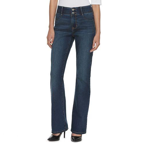 Women's Apt. 9® Tummy Control Curvy Midrise Bootcut Jeans