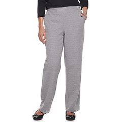 Petite Alfred Dunner Studio Pull-On Knit Straight-Leg Pants