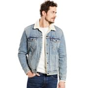 Men's Levi's Sherpa-Collar Denim Trucker Jacket