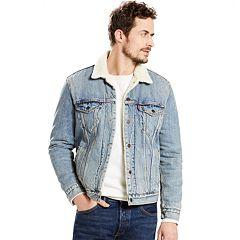 Men's Levi's Sherpa-Collar Denim Trucker Jacket