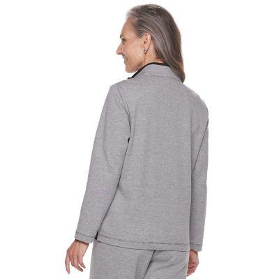 Petite Alfred Dunner Studio Colorblock Zip-Front Jacket