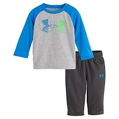 Baby Boy Under Armour Logo Raglan Tee & Pants Set