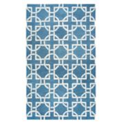 Rizzy Home Idyllic Transitional Interlocking Circles Geometric Rug